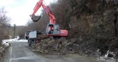 Alta Val Ceno. Frana tra Ponte Ceno e lo stabilimento Norda.