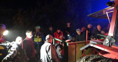 Endurista cade in val Ceno nei soccorsi coinvolti: Vigili del Fuoco, agricoltori, cacciatori, Assistenze Pubbliche, Carabinieri