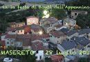 Domenica 28 luglio 2019 Masereto di Solignano festa Bontà dell'Appennino con 200 posti al coperto