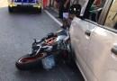 Scontro tra moto ed auto a Riccò. Code fin quasi a Collecchio