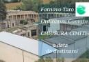 Covid-19 Fornovo CHIUSURA CIMITERI ordinanza Comunale