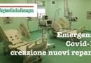 Covid-19 Al Lavoro per realizzare nuovi reparti negli Ospedali Emilia Romagna