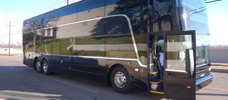 black travel bus