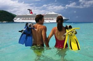 couple on cruise trip