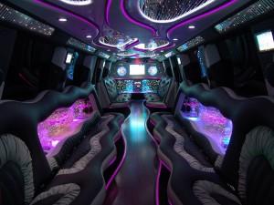 inside white limousine