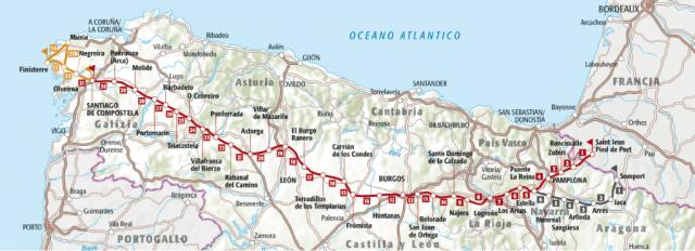Le tappe del Cammino di Santiago - Il Cammino Francese