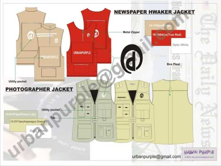 fashion tech pack Work-wear Designer - Clothing Designer