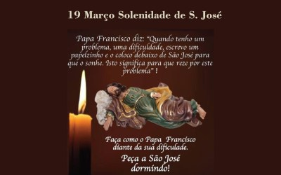 19 Março – Solenidade de S. José