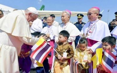 O papa Francisco visitou a Tailândia de 20 a 23 de novembro