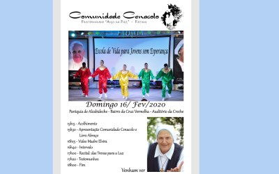 Apresentação da Comunidade Cenacolo 16 de Fevereiro –  Ig Cruz Vermelha