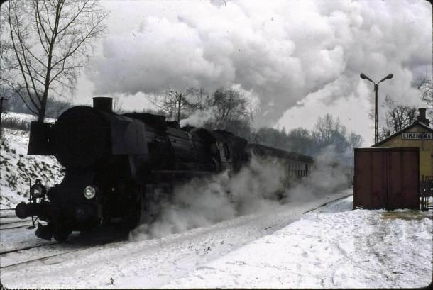 Ty2-1146 na stacji w Limanowej (1989). Fot. Biohof Cordes.