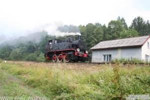 """TKh49-1 """"luzem"""", Rabka-Zdrój. Parowozjada'2006-przejazdy z Rabki Zarytego do Chabówki. Fot.: Henryk Mazurek."""