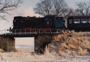 Szydłowo, OKz32-2, jazda próbna po odbudowie. 11.01.1992. Fot.: Ryszard Smulkowski.