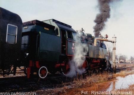 Wałcz, OKz32-2, jazda próbna po odbudowie. 11.01.1992. Fot.: Ryszard Smulkowski.
