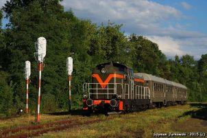 """SONY DSCSP42-260 z pociągiem """"Kociołkiem"""" i """"Sputnikiem"""" po Małopolsce i Podkarpaciu'2015. Fot.: Szymon Jurkowski."""