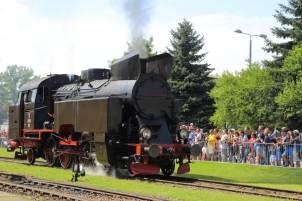 TKt48-191 podczas prezentacji parowozów. Fot.: Miłosz Mazurek