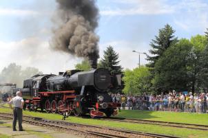 Ty42-24 z Pyskowic podczas prezentacji parowozów. Fot.: Miłosz Mazurek