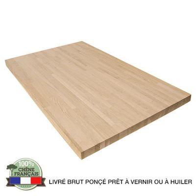 plan de travail bois massif sur mesure
