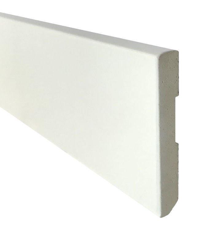 Zócalo Rodapié PVC blanco lacado antihumedad 7cm