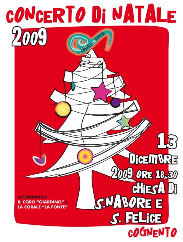 Locandina concerto di Natale 2009