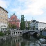 Il Triplo ponte e il fiume Ljubljanica