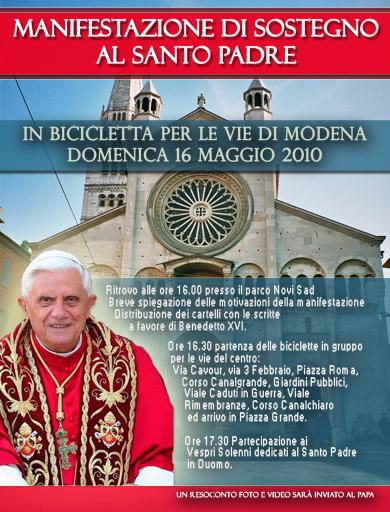 In bicicletta per il Papa