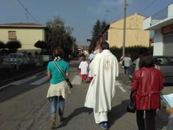 Sagra 2016 (2 ottobe) - Processione con la Madonna del Rosario per le vie del paese