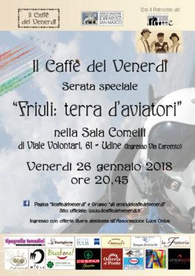 Locandina della serata de Il caffè del venerdì 26/01/18