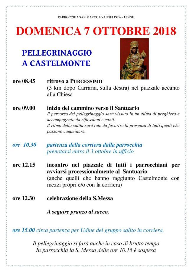 Programma Castelmonte 2018