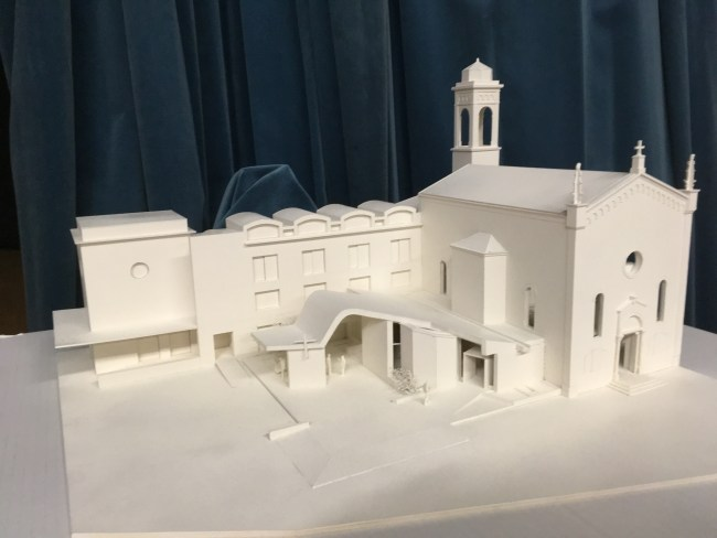 plastico lavori ampliamento chiesa san Marco