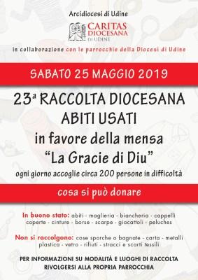 CARITAS RACCOLTA INDUMENTI USATI 2019