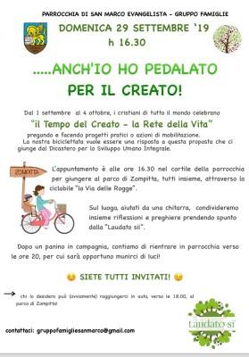pedalata per il creato