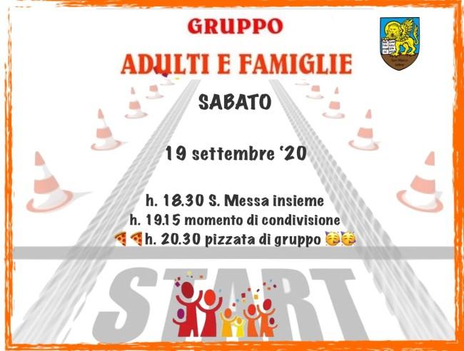 Incontro gruppo famiglie e adulti 09/2020