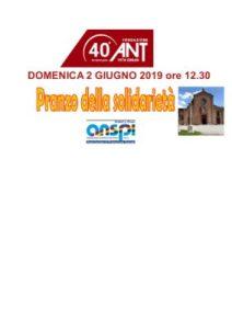 Read more about the article Pranzo della solidarietà _ Pranzo ANT