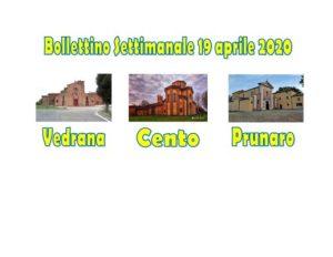 Bollettino Vedrana Cento Prunaro 19 aprile 2020