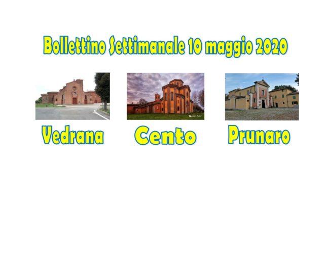 Bollettino Vedrana Cento Prunaro 10 maggio 2020