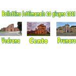 Bollettino Vedrana Cento Prunaro 20 giugno 2021
