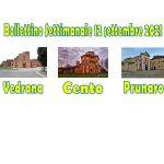 Bollettino Vedrana Cento Prunaro 12 settembre 2021