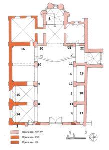 planimetria numerata S. Maria del Carmine