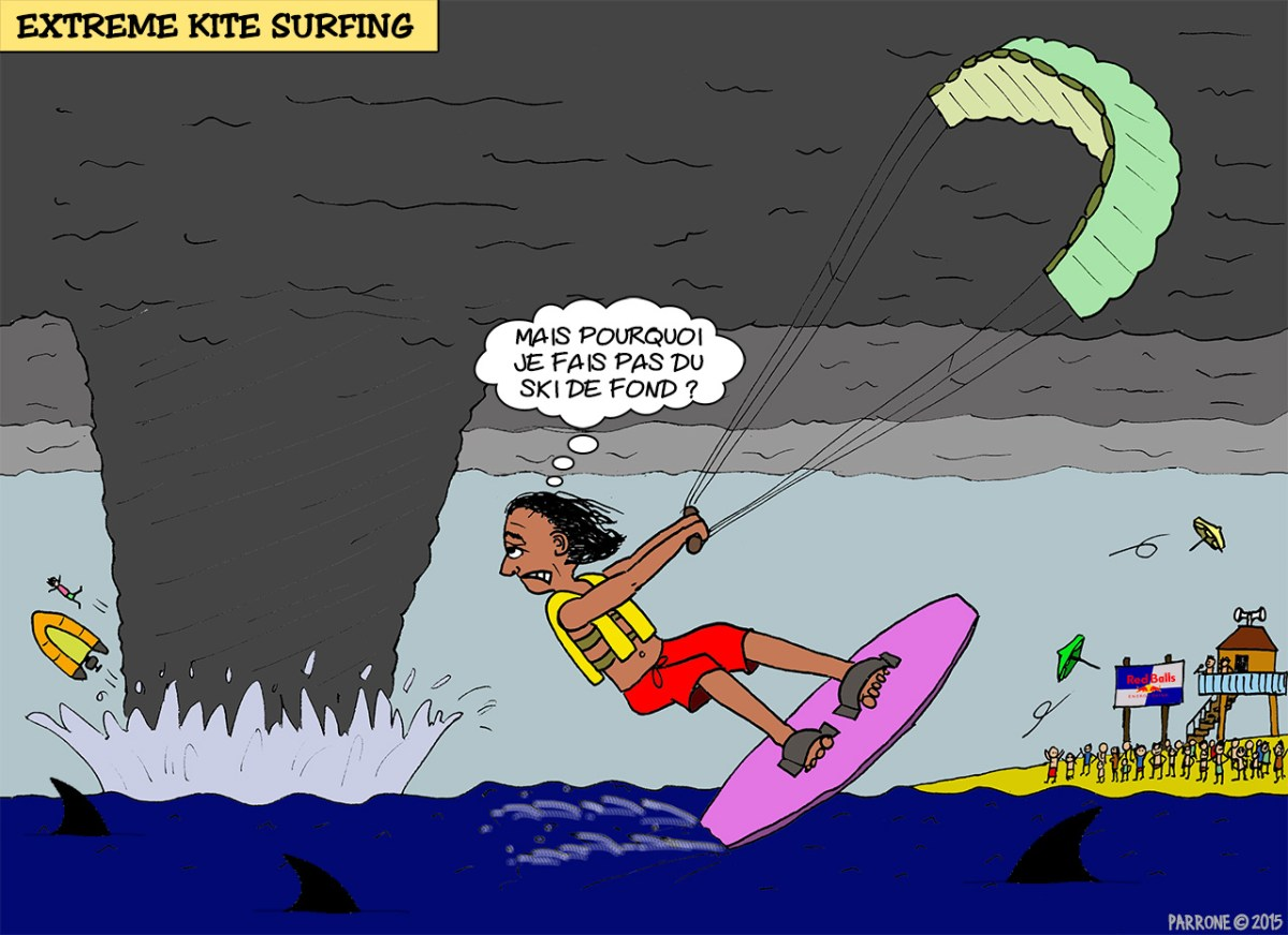 Extreme kite surfing