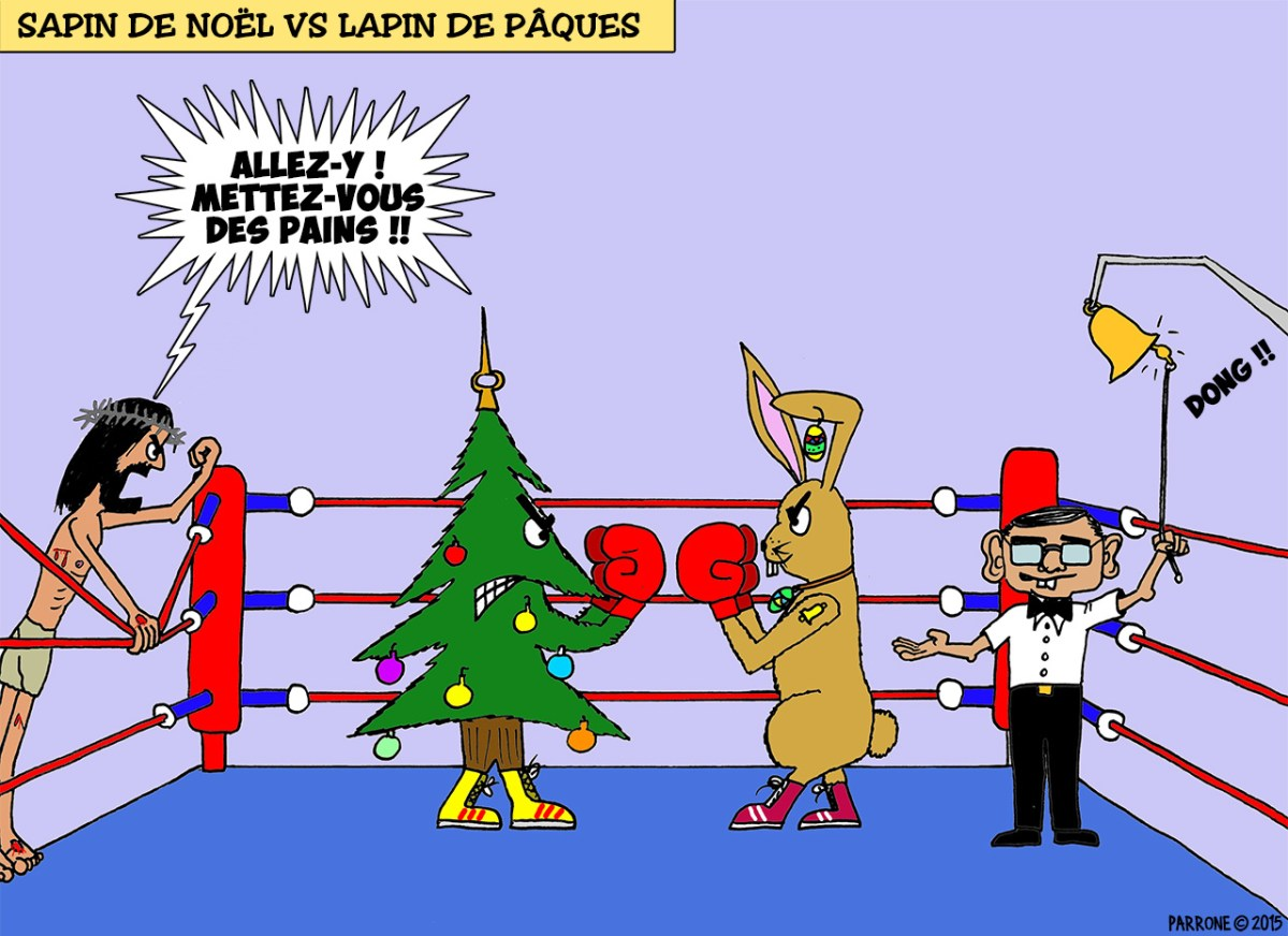 Sapin de Noël vs Lapin de Pâques
