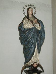 """""""Inmaculada Concepción"""", de Pedro de Mena (año 1.676). Iglesia parroquial de San Nicolás de Murcia. (Pinchando en la imagen se puede ver ampliada)."""