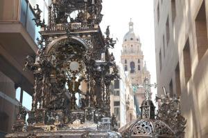 Custodia de plata de la S. I. Catedral de Murcia.