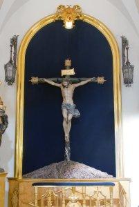 """Imagen sagrada del """"Santísimo Cristo del Amparo"""" (Francisco Salzillo y Alcaraz, año 1.739). Iglesia parroquial de San Nicolás de Murcia. (En la """"Galería de fotos"""" de esta web se puede ver mucho mejor)."""