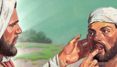 Jesús cura sordomudo