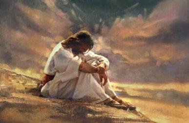 Jesús y la oración.Desierto