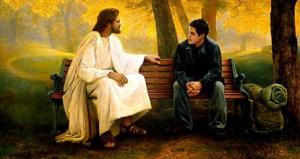 Jesús y un joven.1