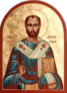 San Juan Crisóstomo (347-407), Patriarca de Constantinopla.