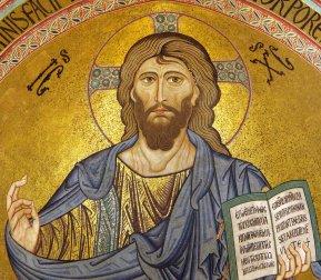 """Cristo """"Pantocrátor"""". Catedral de Cefalú, Sicilia."""
