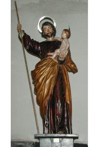 Bellísima imagen sagrada de San José. Autor: Pedro de Mena. Realizada en el año 1674. Iglesia parroquial de San Nicolás, Murcia. (Pulsando en la foto, se puede ver ampliada).
